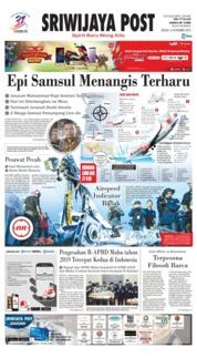 Cover Sriwijaya Post 06 November 2018