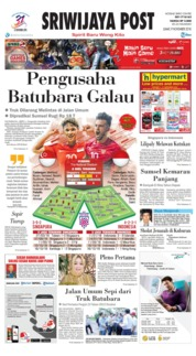 Cover Sriwijaya Post 09 November 2018
