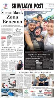 Cover Sriwijaya Post 10 November 2018