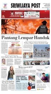 Cover Sriwijaya Post 12 November 2018