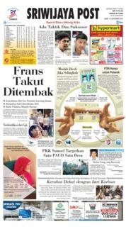 Cover Sriwijaya Post 16 November 2018