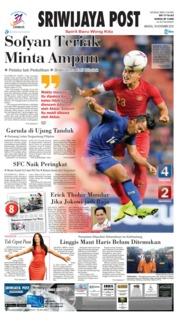 Cover Sriwijaya Post 18 November 2018