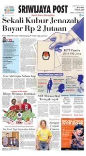 Cover Sriwijaya Post 16 Desember 2018