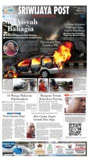 Cover Sriwijaya Post 12 Maret 2019