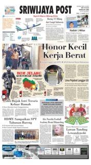 Cover Sriwijaya Post 13 Maret 2019
