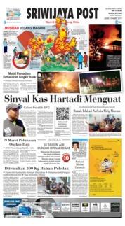 Cover Sriwijaya Post 15 Maret 2019