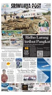 Cover Sriwijaya Post 18 Maret 2019