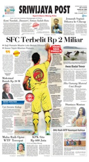 Sriwijaya Post Cover 20 March 2019