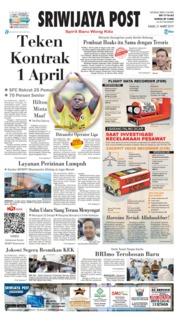 Cover Sriwijaya Post 21 Maret 2019