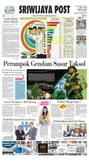 Cover Sriwijaya Post 23 Maret 2019
