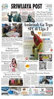 Cover Sriwijaya Post 02 April 2019