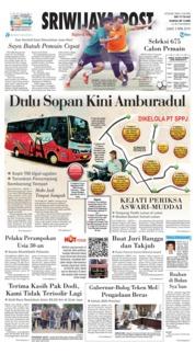 Cover Sriwijaya Post 05 April 2019