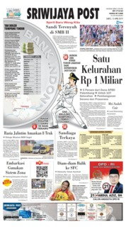 Cover Sriwijaya Post 13 April 2019