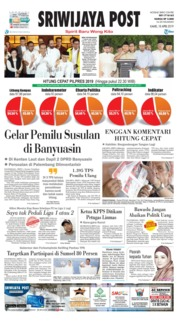 Cover Sriwijaya Post 18 April 2019