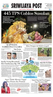 Cover Sriwijaya Post 20 April 2019