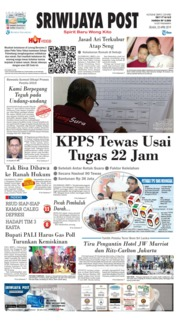 Cover Sriwijaya Post 23 April 2019