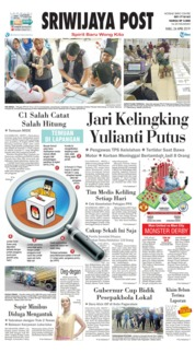 Sriwijaya Post Cover 24 April 2019