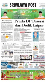 Sriwijaya Post Cover 13 May 2019