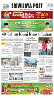 Sriwijaya Post Cover 20 May 2019