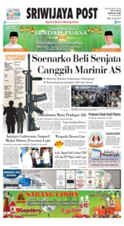 Sriwijaya Post Cover 22 May 2019