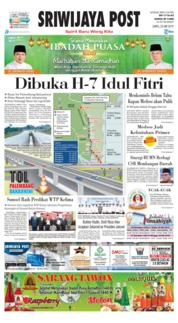 Sriwijaya Post Cover 25 May 2019