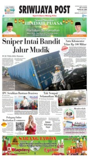 Sriwijaya Post Cover 26 May 2019