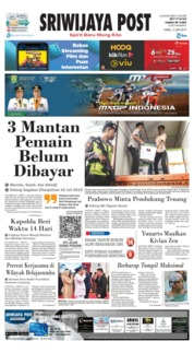 Sriwijaya Post Cover 13 June 2019