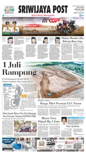 Sriwijaya Post Cover 21 June 2019