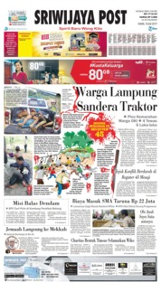 Sriwijaya Post Cover 18 July 2019