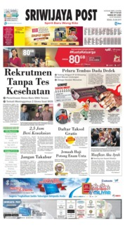 Sriwijaya Post Cover 23 July 2019