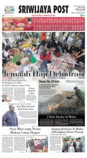 Sriwijaya Post Cover 12 August 2019