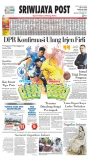 Cover Sriwijaya Post 08 September 2019
