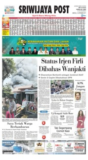 Sriwijaya Post Cover 15 September 2019