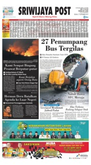 Cover Sriwijaya Post 17 September 2019