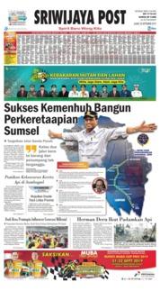 Sriwijaya Post Cover 20 September 2019