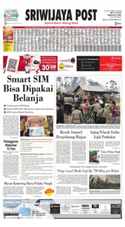 Cover Sriwijaya Post 23 September 2019