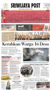 Sriwijaya Post Cover 16 October 2019