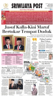 Cover Sriwijaya Post 20 Oktober 2019
