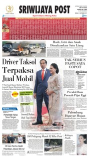 Cover Sriwijaya Post 21 Oktober 2019