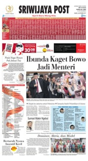 Cover Sriwijaya Post 24 Oktober 2019