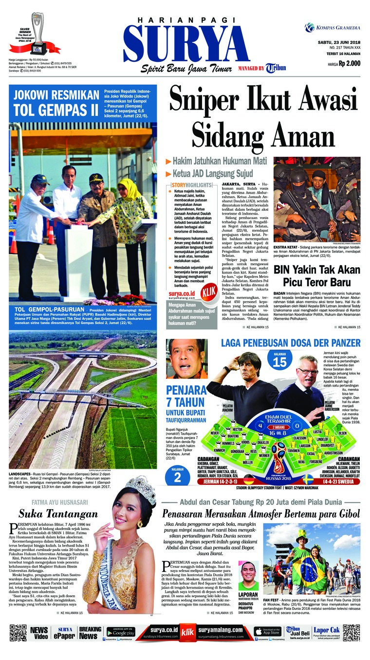 Koran Digital Surya 23 Juni 2018