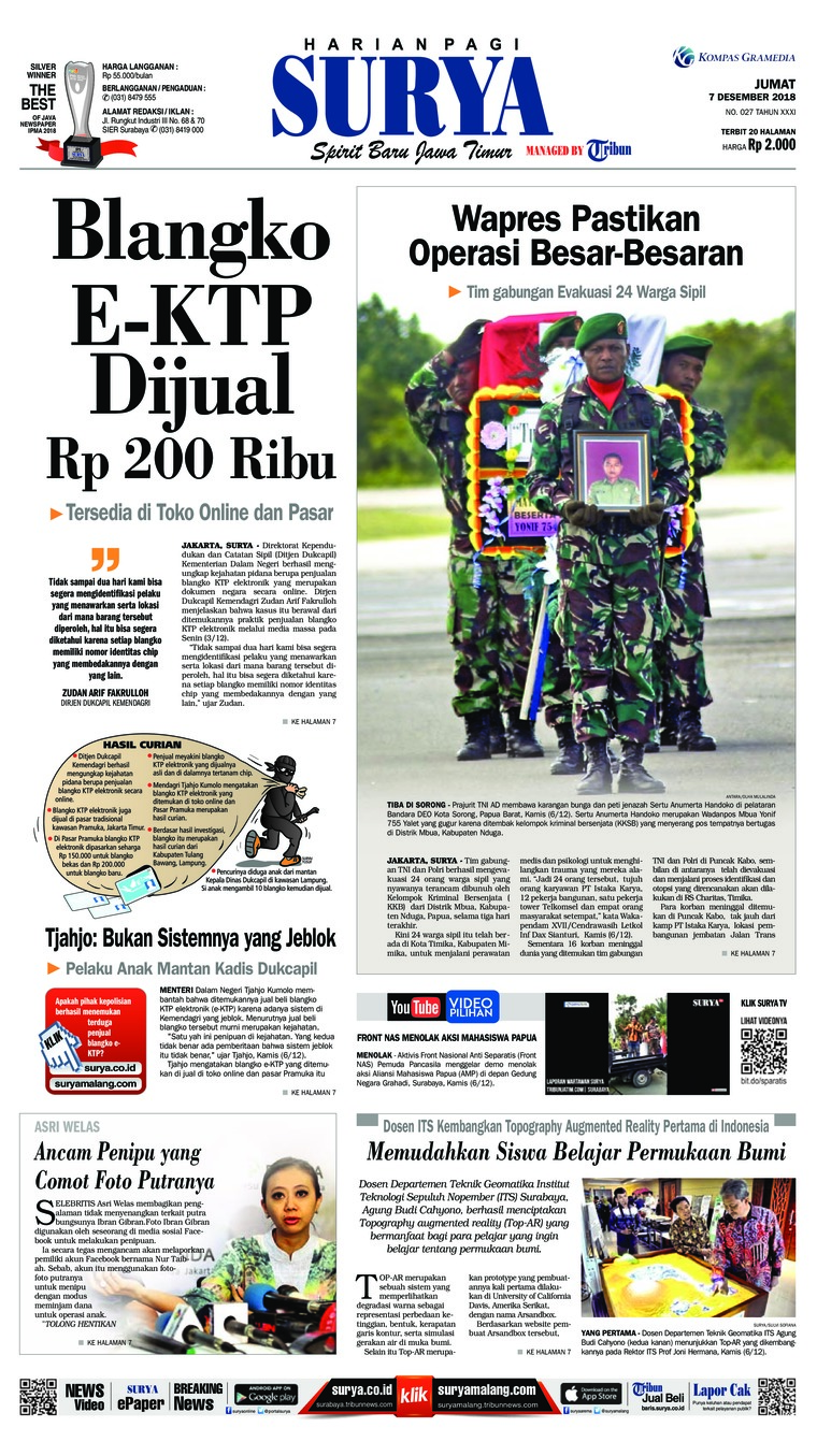 Koran Digital Surya 07 Desember 2018