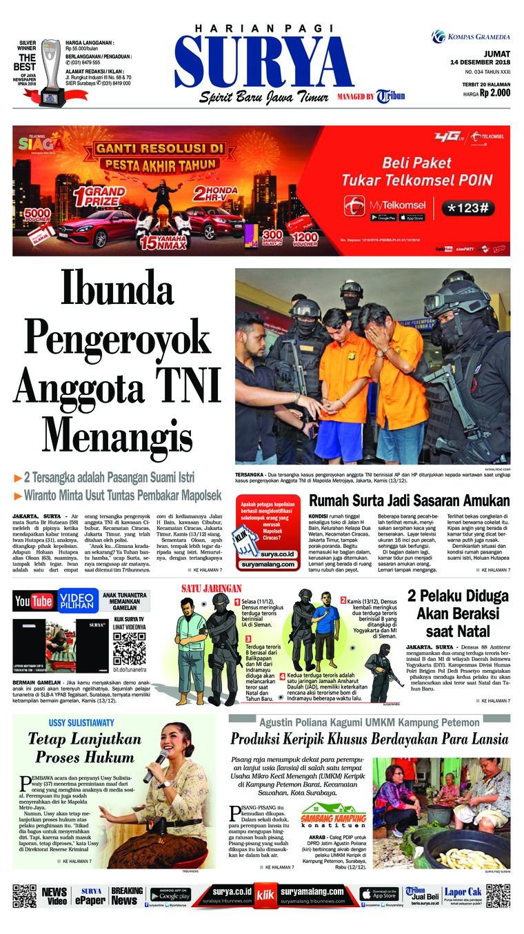 Koran Digital Surya 14 Desember 2018