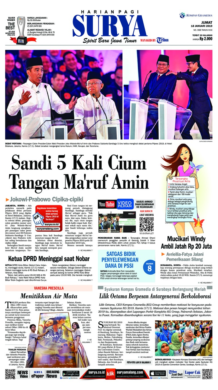 Koran Digital Surya 18 Januari 2019