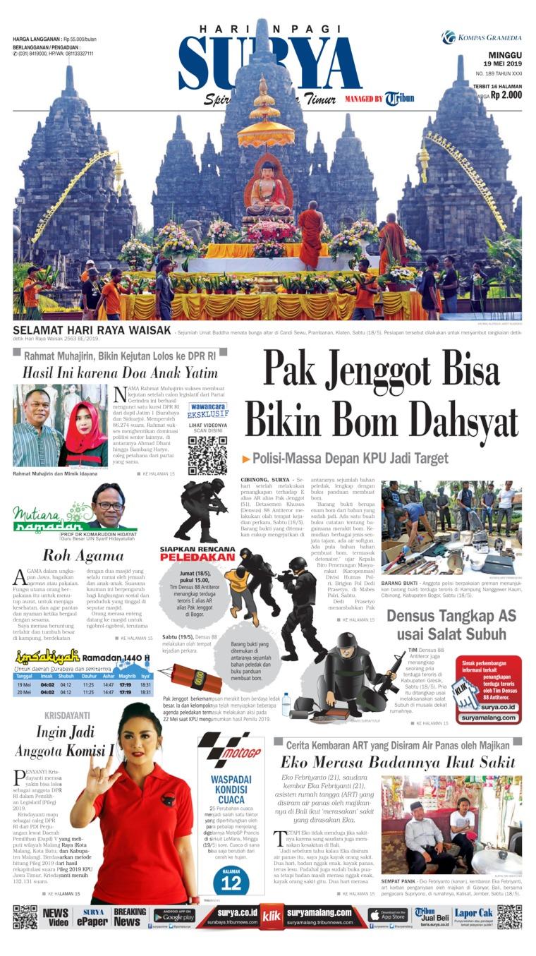 Koran Digital Surya 19 Mei 2019
