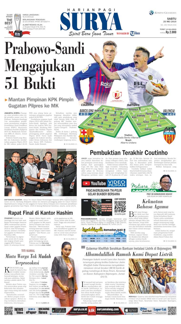 Surya Digital Newspaper 25 May 2019