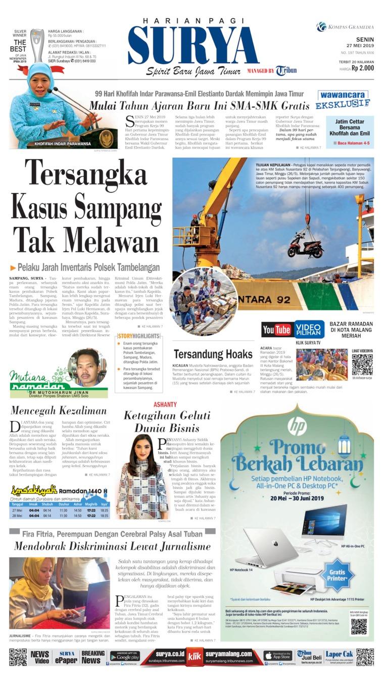 Koran Digital Surya 27 Mei 2019