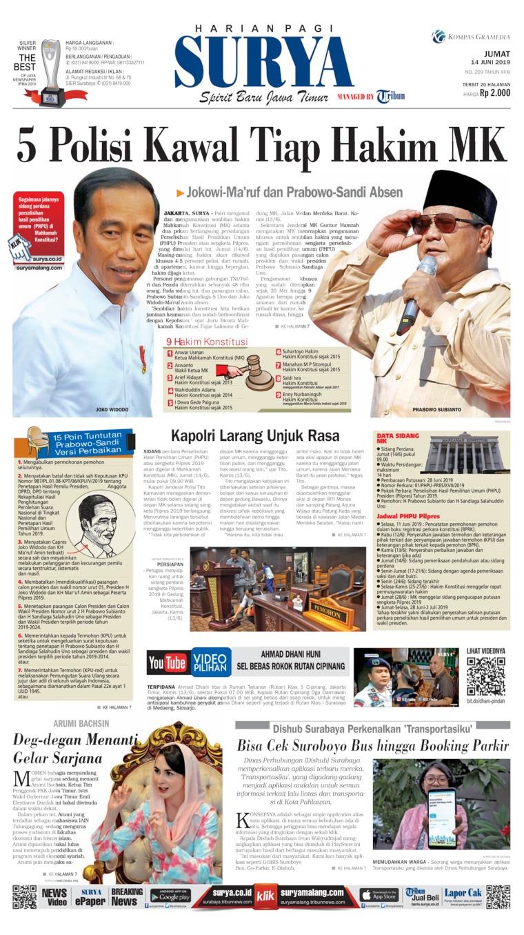 Koran Digital Surya 14 Juni 2019