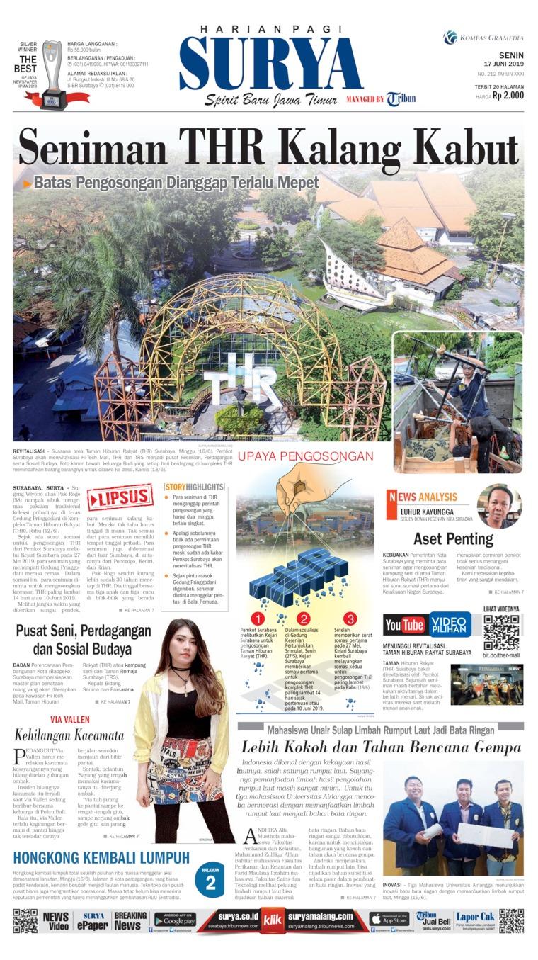 Koran Digital Surya 17 Juni 2019