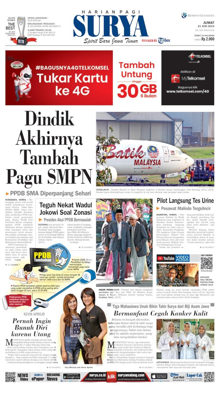 Koran Digital Surya 21 Juni 2019